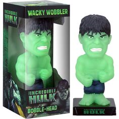 SDCC Exclusive Marvel Incredible Glow Hulk Bobble Head. Limited Edition of 1500.  Celebrating the all-new Incredible Hulk movie, we are proud to introduce this exclusive Glow Hulk Bobble from Funko! Standing approximately 6 inches tall, this is a must have for Hulk fans! Price: $5.99. Reg.price: 14.99