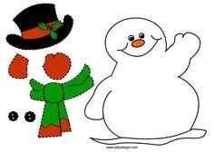 pupazzo-neve-ritagliare