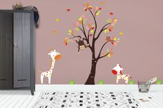Design with Vinyl RAD 794 3 Girl Playing with Colorful Butterflies Wall Decal Black 20 x 30