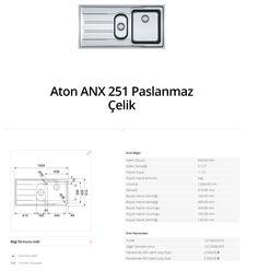 Aton ANX 251 Paslanmaz Çelik franke  franke Aton ANX 251 Paslanmaz Çelik