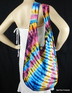 Tie Dye Bag Purse Hobo Hippie Sling Messenger by BenThaiProducts, $13.99