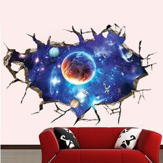 Cheap sticker for kids room, Buy Quality wall stickers for kids directly from China wall sticker Suppliers: 4 style Outer Space Planet Wall Stickers for kids room floor Galaxy Stickers muraux muursticker vinyl wall decals poster 3d Wall Decals, Removable Wall Stickers, Wall Stickers Home Decor, Wall Stickers Murals, Wall Murals, Room Stickers, Cheap Stickers, Stickers Online, Wall Art