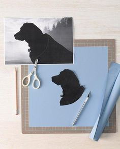 Pet Silhouette Stationery How-to *also use idea to embellish dog treat container
