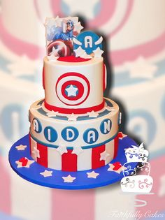 Captain America 4th Birthday Cake