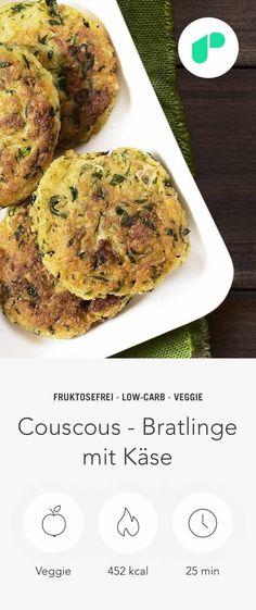 """Finde heraus wie lecker Upfit sein kann und bereite dir mit diesem einfachen """"Couscous - Bratlinge mit Käse Rezept"""" ein gesundes und leckeres Gericht zu."""