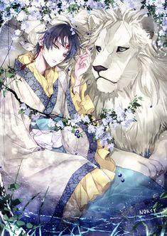 白澤+白獅子