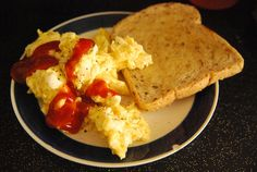 scramble eggs and toast!!!