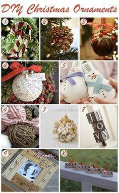 10 DIY Christmas Ornaments #DIY #Christmas #ornament