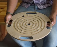 Marble Maze: 3 Steps (with Pictures) Marble Maze, Marble Board, Wooden Plates, Wooden Stools, Woodworking Toys, Woodworking Projects, Maze Game, Wood Games, Cnc Wood
