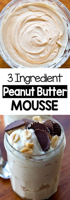 Smooth, thick, creamy, and secretly vegan peanut butter mousse for an easy dessert with no dairy required (can be a keto dessert) #recipe #dessert #peanutbutter #vegan #keto #dairyfree #sugarfree #mousse #ketodessert #vegandessert