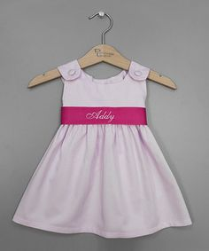 Look what I found on #zulily! Baby Pink Personalized Sash Jumper - Infant, Toddler & Girls by Princess Linens #zulilyfinds