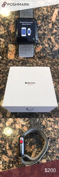 Apple Watch Series 3 42mm Black LTE + GPS 100% Authentic 🔹 We are a very negotiable service 🔹 We provide overnight shipping and express shipping 🔹 Our transactions are made through third party applications 🔹 If you are interested in buying this product please contact us via 646-431-6521 🔹 Apple Accessories Watches