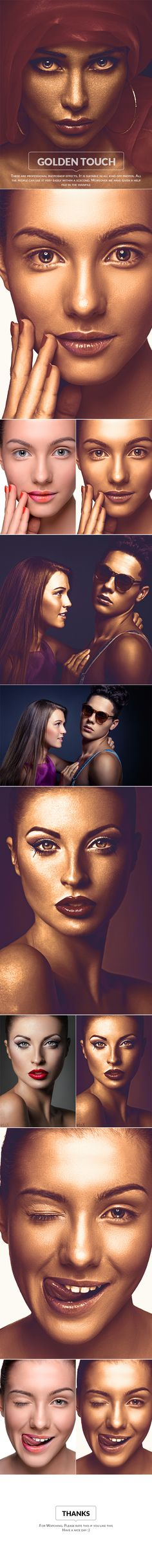 Golden touch Photo Effect - Photo Effects Actions