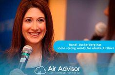 Randi Zuckerberg, Alaska Airlines, Strong Words