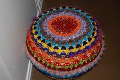 yarn bombed poof