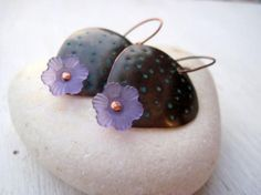 """Earrings """"stelline"""" - copper, """"lucite"""""""