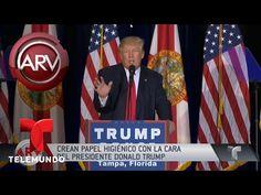 Crean papel higiénico con la cara del presidente Trump   Al Rojo Vivo   Telemundo - YouTube