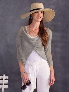 New Knitting Patterns - Crisscross Meshy Top Knit Pattern