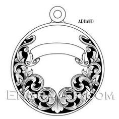Pet Pendant Hand Engraving Design by Arnaud - Precision Artistry LLC Metal Engraving Tools, Engraving Art, Wood Carving Designs, Wood Carving Patterns, Baroque Tattoo, Arabesque, Leather Tooling Patterns, Turkish Art, Circle Design