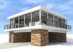 Contemporary Getaway - 44065TD | Modern, Metric, Narrow Lot, 1st Floor Master Suite, CAD Available, Drive Under Garage, PDF | Architectural Designs