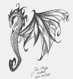 Winged Dragon Seahorse Tattoo Design   Tattoos   Pinterest ...