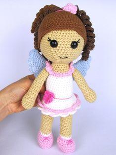 Háčkovaná panenka Andělka - návod / Zboží prodejce Dione   Fler.cz Crochet Dolls, Crochet Hats, Doll Toys, Girl Dolls, Baby Knitting, Crochet Projects, Kids Toys, Hello Kitty, Elsa