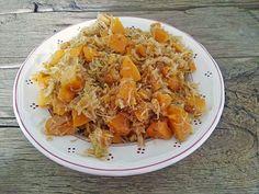Würzige Kürbis-Sauerkraut-Pfanne