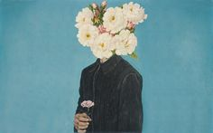 dude with flowers instead of his head