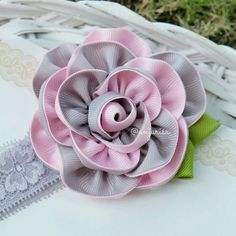 A ribbon rose that I love so much!