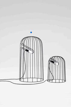 Nendo lamps. #productdesign #industrialdesign #ID #design #lamp #light #lighting #birdcage