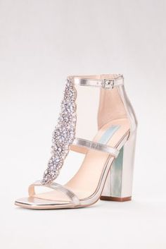 030829e7a63d Dance the night away in this ravishing Betsey Johnson sandal with bejeweled  T-strap and easy-to-wear block heel. By Blue by Betsey
