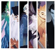 Posters and images from Rise of the Guardians.