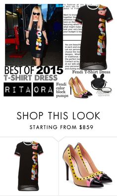 """Rita Ora"" by statisticam ❤ liked on Polyvore featuring Fendi, women's clothing, women, female, woman, misses and juniors"