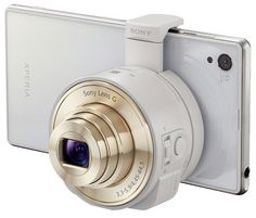 Sony Smartphone Interchangeable Attachable Lens-Style Camera with Optical Zoom and NFC/ Wi-Fi in White + Sony Class 10 microSDHC + Carrying Case + Stylus + Focus Multi Card Reader + Accessory Kit Sony Digital Camera, Sony Camera, Best Camera, Digital Slr, Galaxy Note 3, Iphone 5c, Stylus, Ipad Mini, Wi Fi