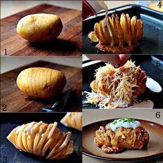 Batata Recheada Hasselback (Fatiada) / receita receitas recipe blog