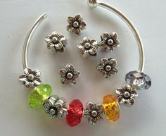 Euro Flower Spacers Antique Silver - Great Detailing on Etsy, $5.00
