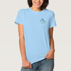 Blue Jay Name Embroidered T-Shirt - animal gift ideas animals and pets diy customize