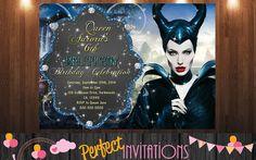 Maleficent Birthday Invitations Maleficent by MariusDesigns