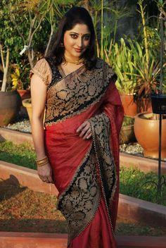 Shrishti – Label for exclusive ethnic-wear by Latha Puttanna – II Indian Attire, Indian Ethnic Wear, Indian Girl Bikini, Beautiful Women Over 40, Sari Blouse Designs, Saree Photoshoot, Saree Trends, Elegant Saree, Most Beautiful Indian Actress