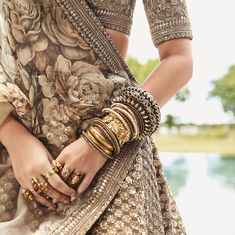 Sabyasachi Launches His All New Destination Wedding Edit In Association With CN Traveller! Sabyasachi Launches His All New Destination Wedding Edit In Association With CN Traveller! Bridal Bangles, Wedding Jewelry, Indian Dresses, Indian Outfits, Indian Clothes, Lehenga For Girls, Sabyasachi Collection, Vogue, Other Outfits