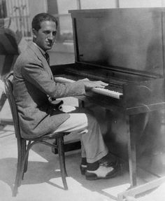 "Legendary composer George Gershwin tickling the  old ivories.  Doesn't this look like Dad playing ""EL Rancho Grande"" ?"