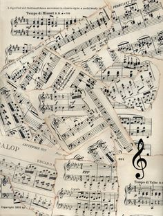 Vintage sheet music collage for crafts and projects. Description from pinterest.com. I searched for this on bing.com/images