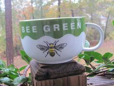 Bee GreenOver Sized MugBumble KitchenwareBees