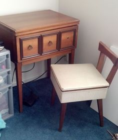 Vintage Sewing Table, Machine And Chair   $225 (Raleigh) Date: 2012 05 23,  5:16PM EDT This Is A Kenmore Sewing Table From 1940u0027s In Great Condition.