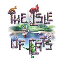 The Isle of Cats - - and many other great board games are available for the lowest prices at Zatu Games UK! Family Boards, Family Board Games, Tiles Game, O Fish, Unique Tile, Kitty Games, Cat Boarding, Cat Cards, Table Settings