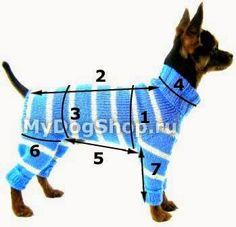 вязаная одежда для собак, комбинезон для собак