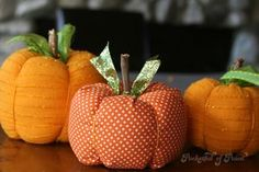 Fabric Pumpkins from Pocketful of Paint