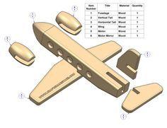 easy wood toy patterns | Passenger plane kids toy plan - Parts list
