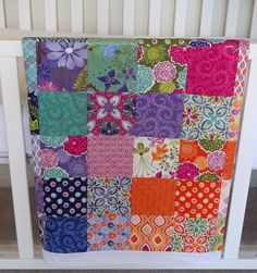 Kate Spain - Terrain...when I see it in the store, I'm not pulled towards any one fabric, but I'm loving all of the quilts made out of the line.  So bright and pretty!