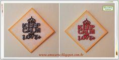 """""""keep calm and love +""""  """"Mantenha calma e ame +""""  madeira http://amocarte.blogspot.com.br/"""